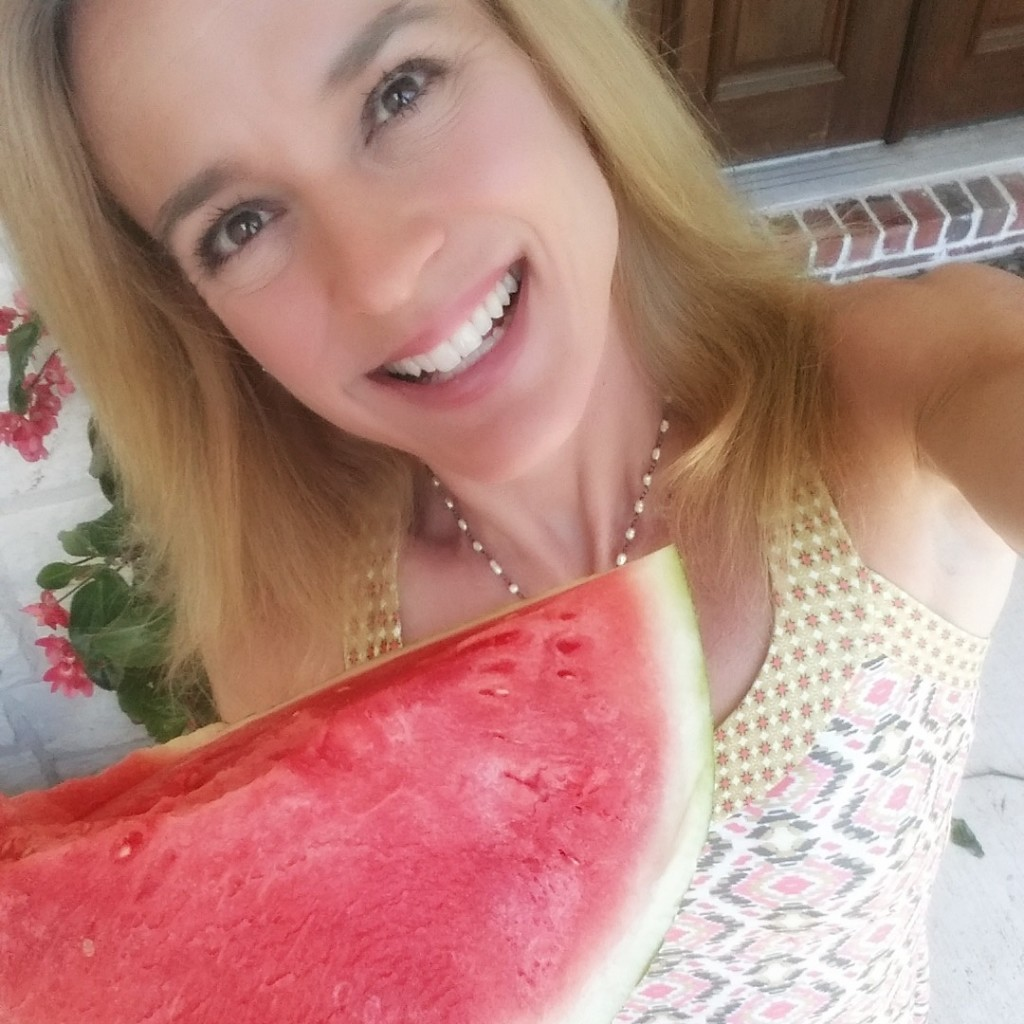 Jennifer Fisher thefitfork.com watermelon