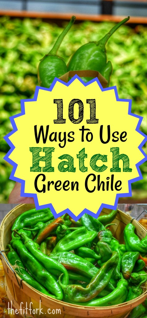 101 Ways to Use Hatch Green Chile - this versatile pepper from New Mexico has meaty flesh and mild to medium-hot heat that lends perfectly to many dishes (from salsas and stews to meats and dessert treats) Learn how to roast them in the oven and grill and get creative ideas on how to enjoy them now and all year long.