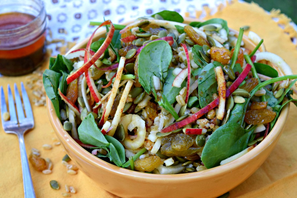 Apple Freekah Salad with Ancho Honey Vinaigrette
