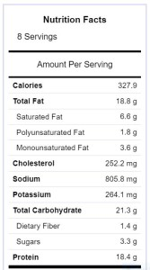 hatch chile frittata nutrition facts