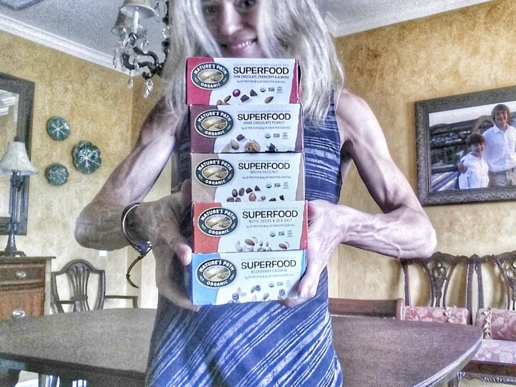 Jennifer Fisher thefitfork.com and Nature's Path Superfood Bars