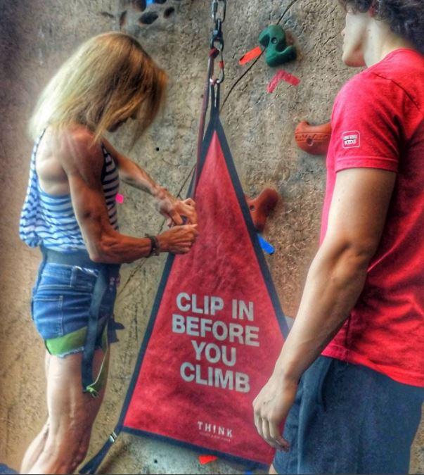 Life Time Fitness Jennifer Fisher Rock Climb
