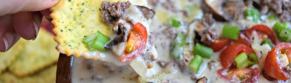 Light Truffle Mushroom Burger Queso