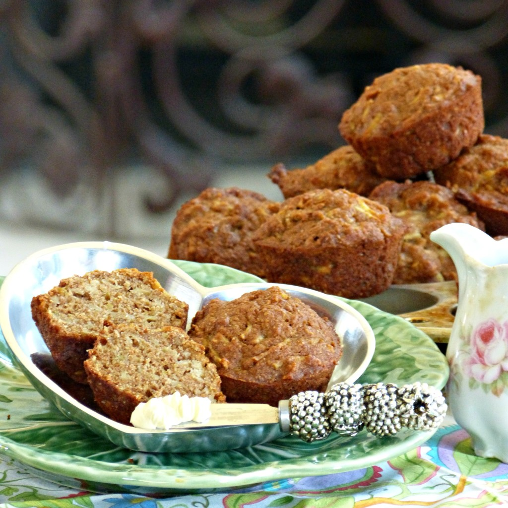 Vegan Chai Apple Muffins