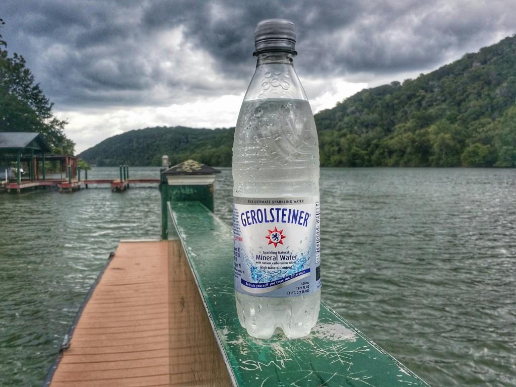 Gerolstiener Sparkling Mineral Water at lake