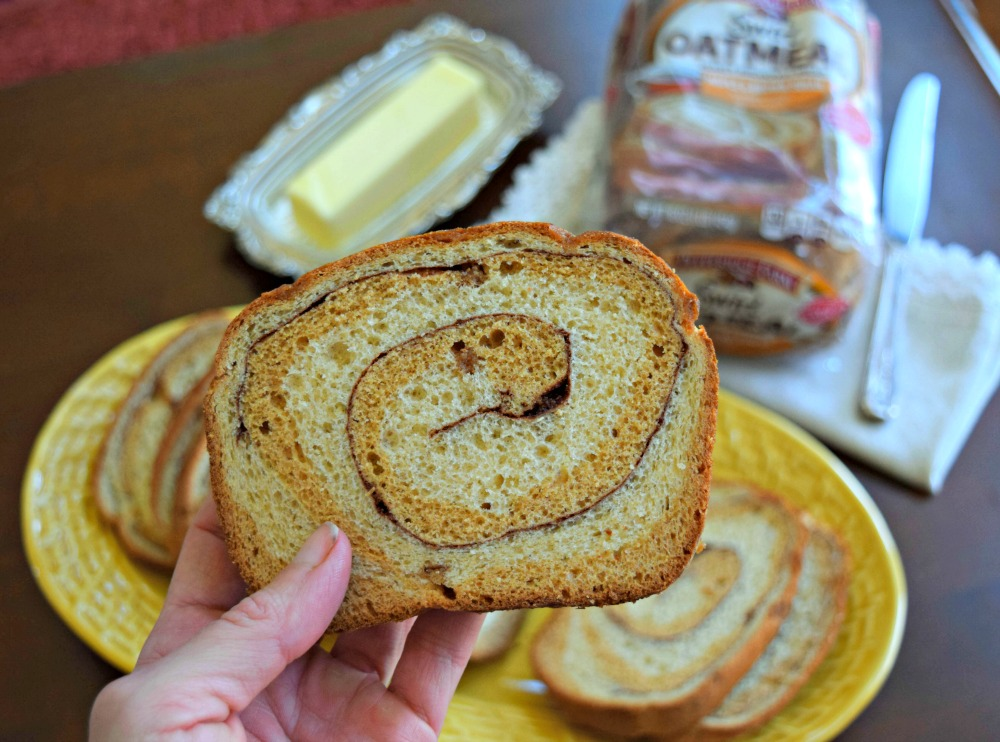 Pumpkin Maple Peanut Butter on Pepperidge Farms Swirl Oatmeal Bread