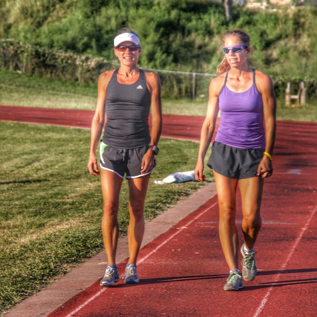 runners on track