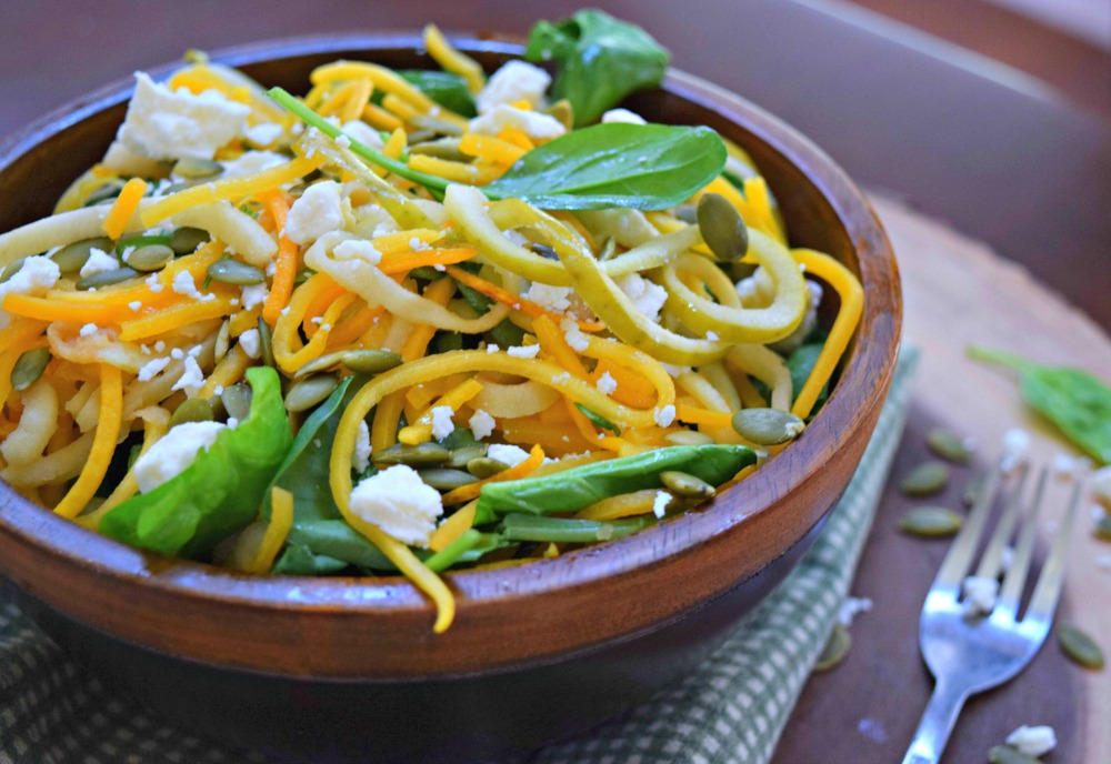 Spiralized Green Apple Butternut Squash Salad