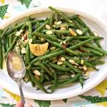 Lemon Ginger Green Beans with Almon