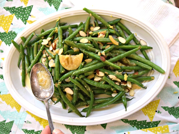 Lemon Ginger Green Beans with Almon