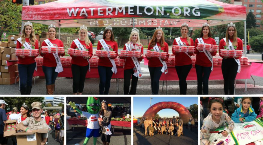 watermelon board at marine corps marathon