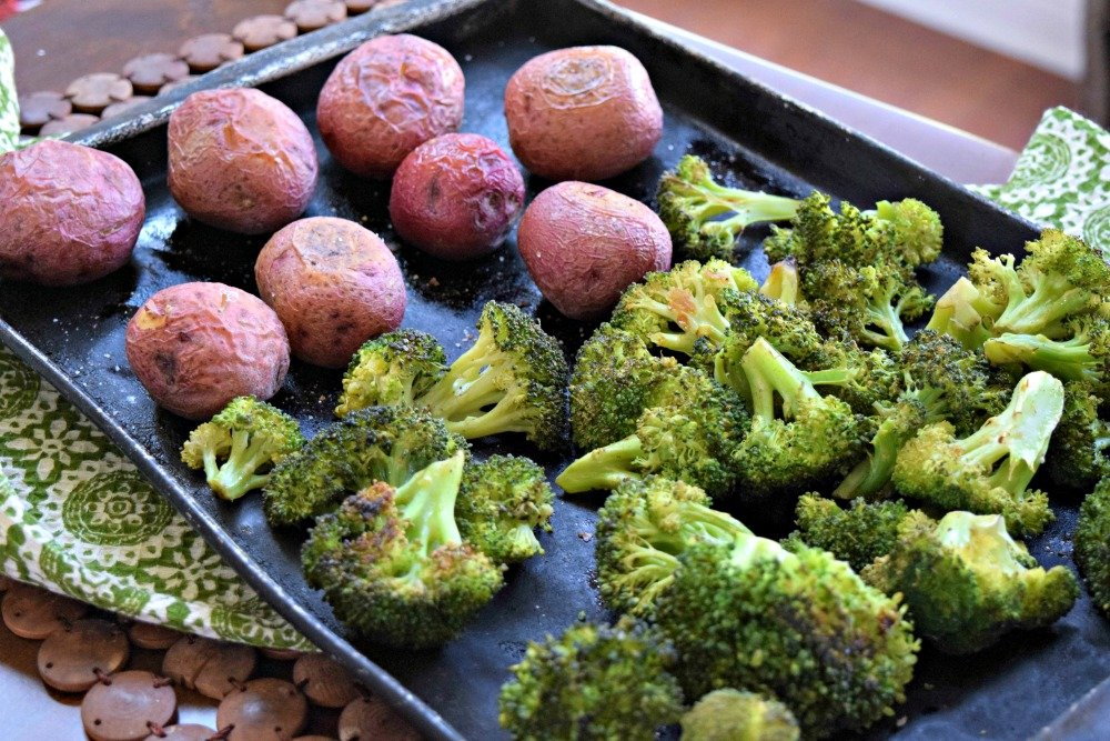 Broccoli and Baby Red Potatoes