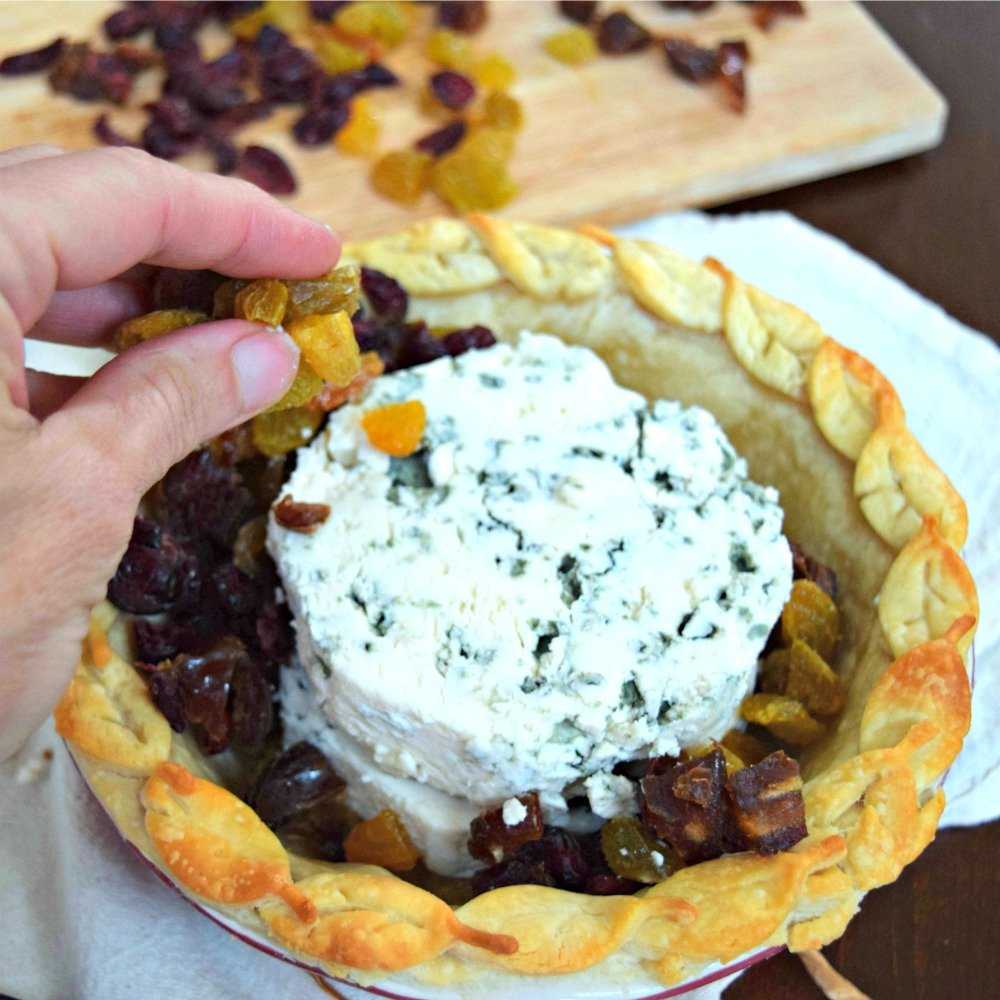 Gorgonzola and Dried Fruit Pie