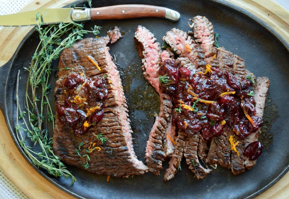 Cranberry Orange Flank Steak