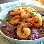 Parmesan Purple Sweet Potato Grits
