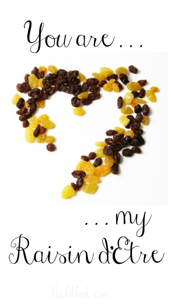 You are my Raisin d'Etre food pun fruit pun