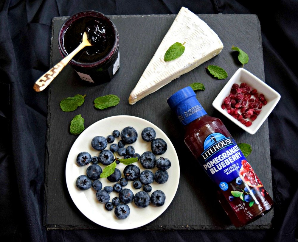 "Blueberry Brie Cheese ""Cake"" Appetizer"