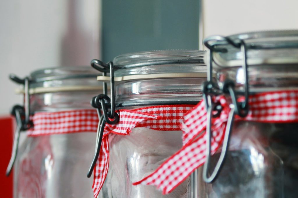 empty mason jar