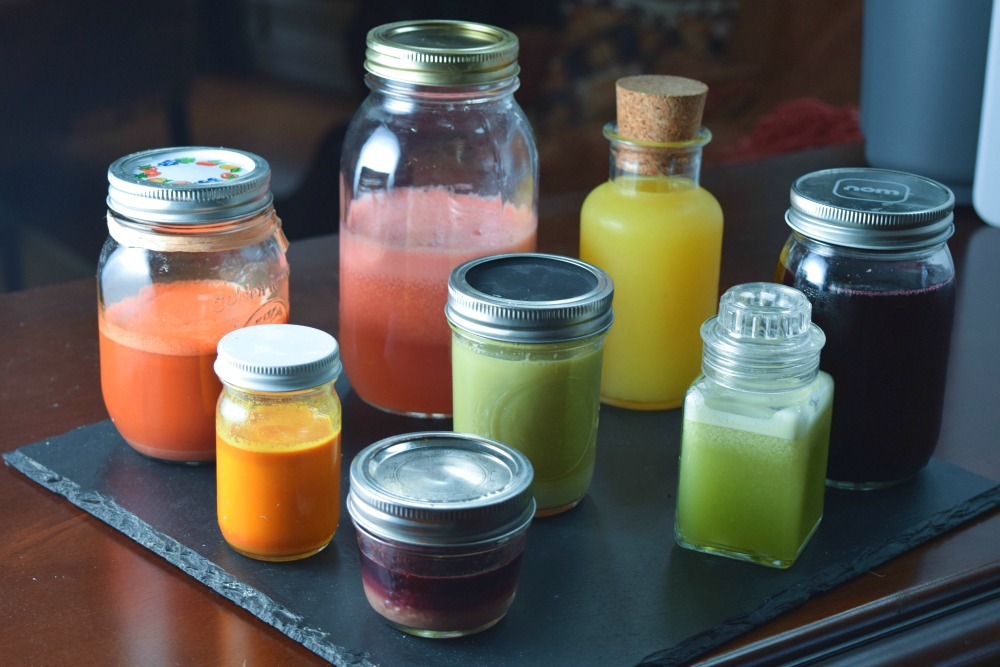 Jars of Fresh Juice -- Hamilton Beach Juice Extractor Giveaway