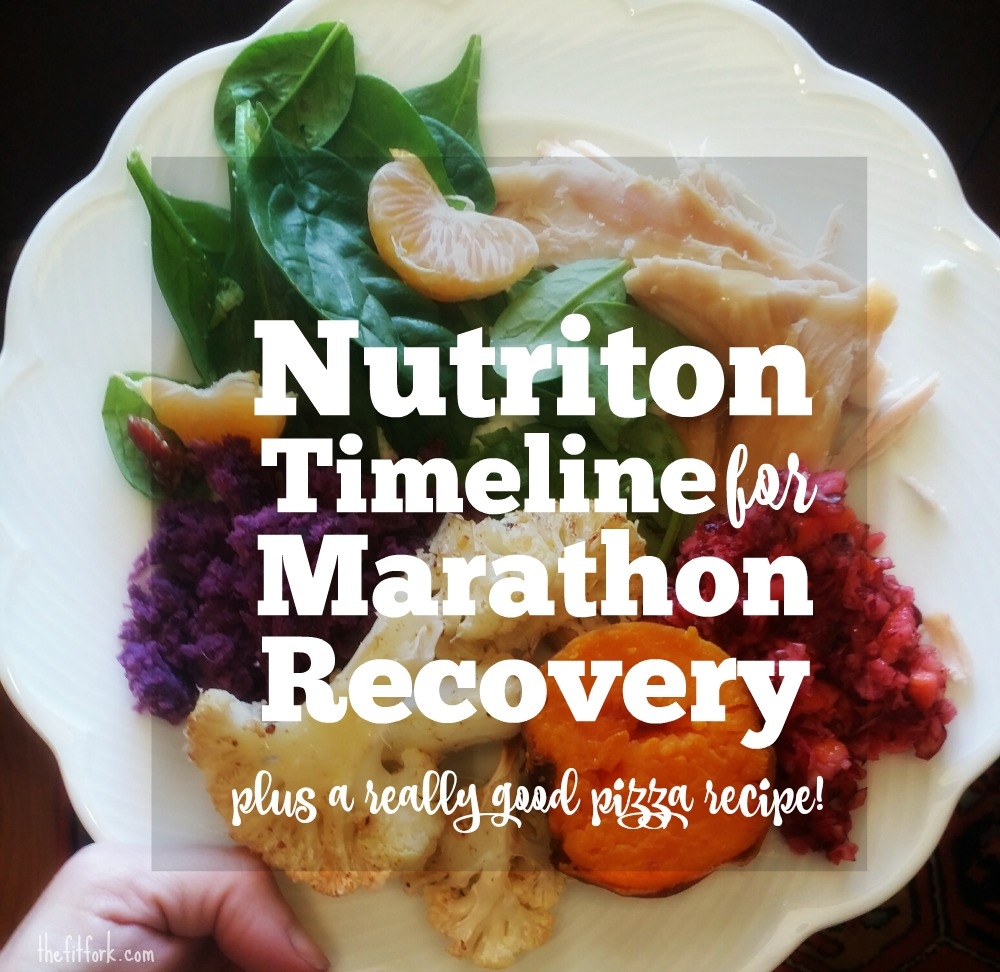 Nutrition Timeline for Marathon Recovery - what to eat immediately and up to 48 hours after an endurance event like marathon, Ironman, Spartan, century ride, and more.