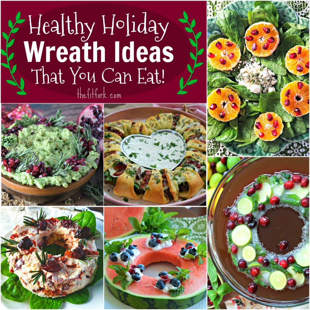Entertaining Holidays: Six Healthy Edible Wreaths For Holiday Entertaining