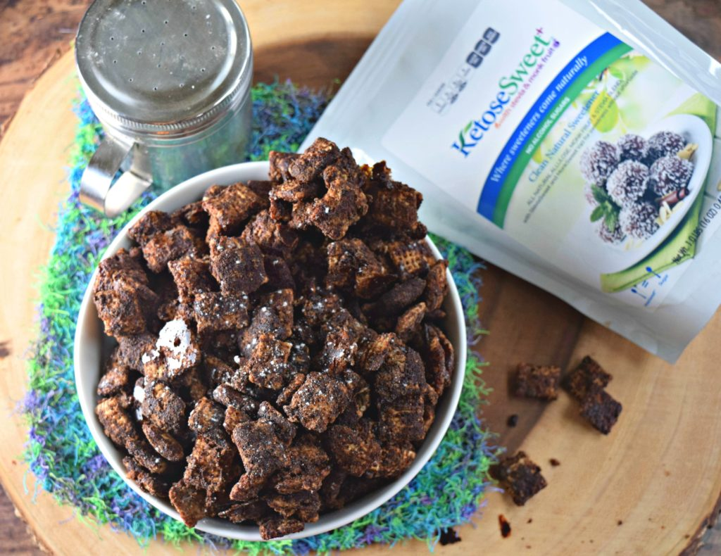 Sugar Free Chocolate Churro Puppy Chow With Collagen Thefitfork Com