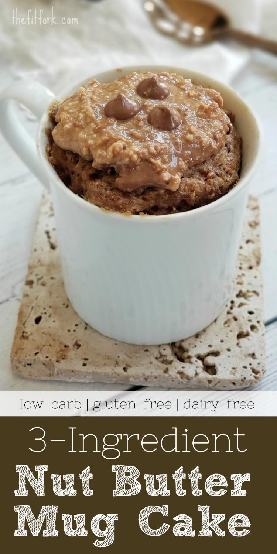 Low Carb Peanut Butter Mug Cake 3 Ingredients Thefitfork Com