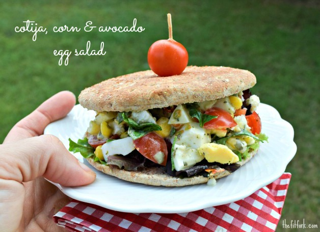 A southwestern inspired egg salad recipe is perfect for you next picnic. - TheFitFork.com
