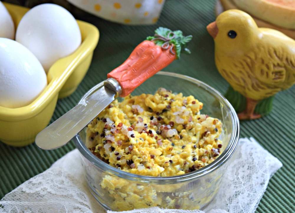 Turmeric Quinoa Egg Salad Spread from leftover hard-boiled eggs