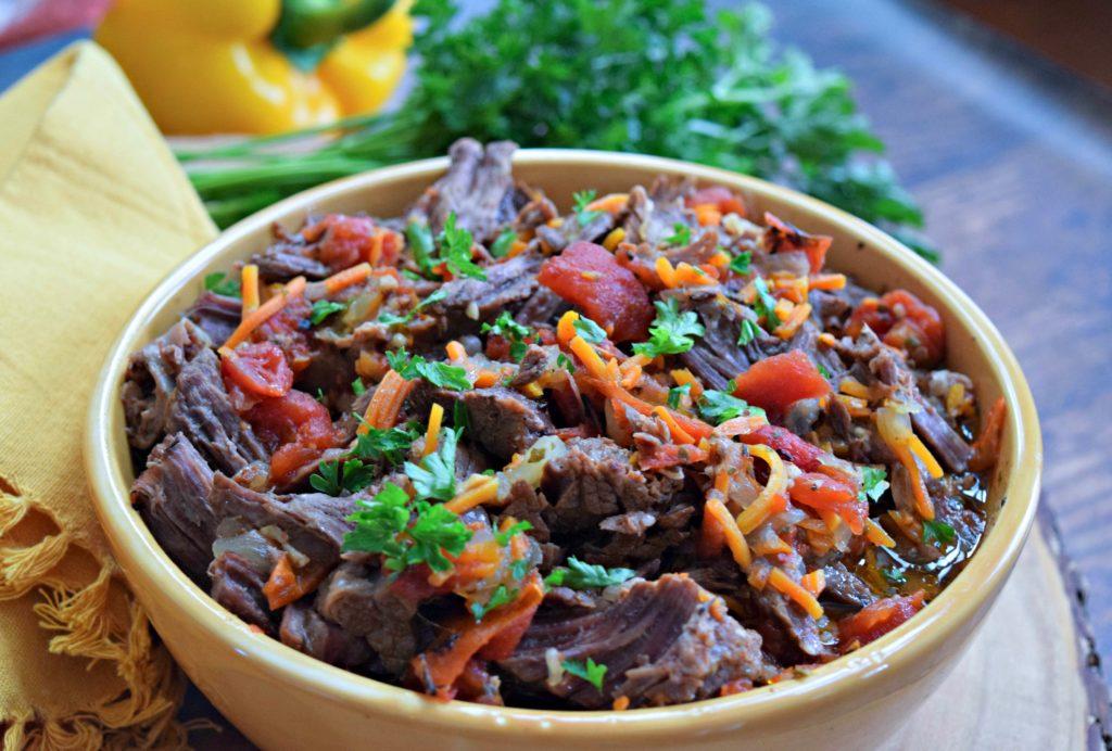 Mediterranean Instant Pot Shredded Beef