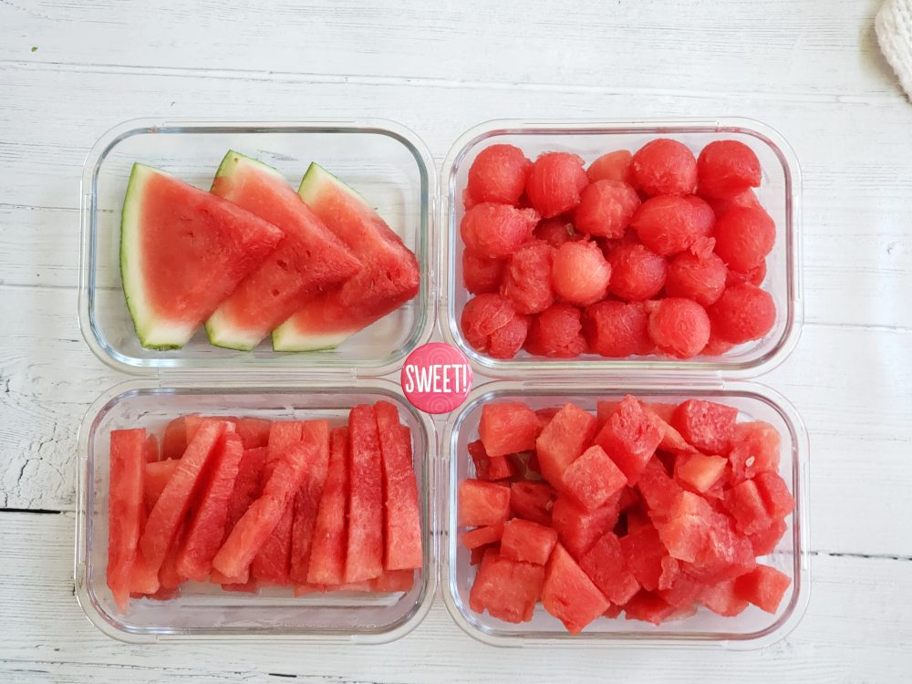 meal prepped watermelon